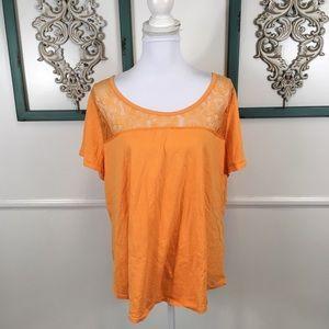Cacique Sleepwear Orange Yellow Sleep Top 18/20